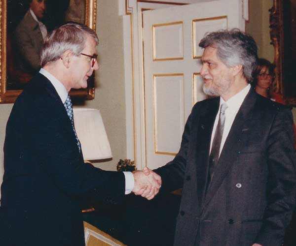 Danny Smith with Prime Minister John Major