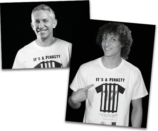 Garry Lineker and David Luiz