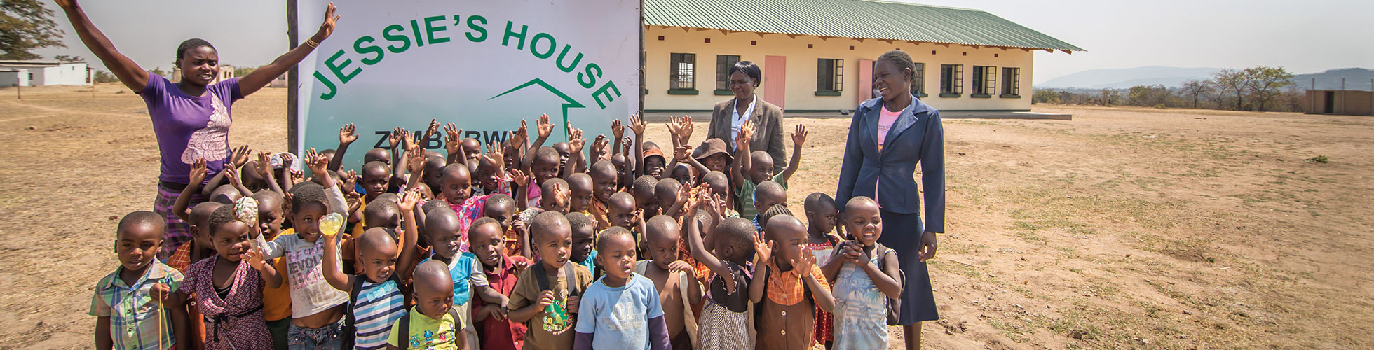 Children at Jessies House in Zimbabwe